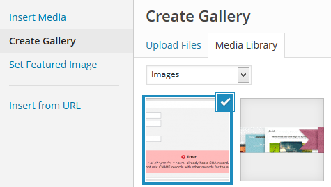 Create gallery WordPress