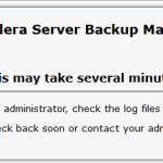 Idera – This may take several minutes
