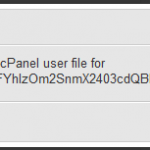 Unable to fetch the cPanel user file