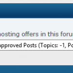 SMF Unapproved post notification will not go away (Topics value -1)