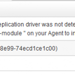 An error occurred while loading the hcpdriver module – R1Soft