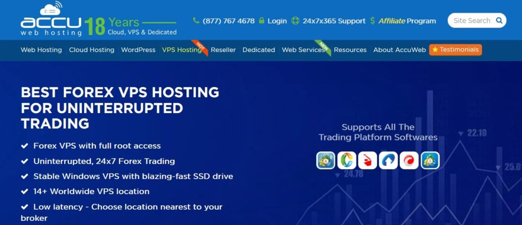 AccuWeb Hosting Forex VPS