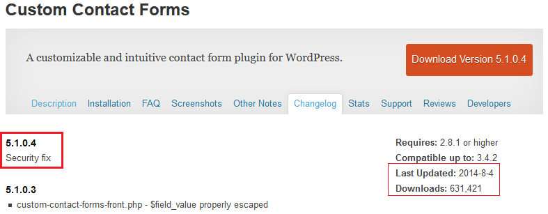WordPress Custom Contact form