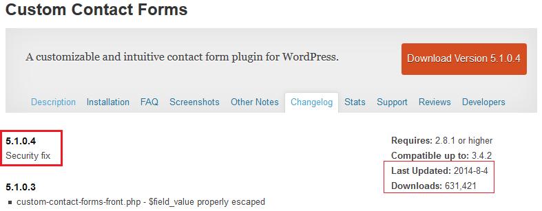 WordPress Custom Contact form