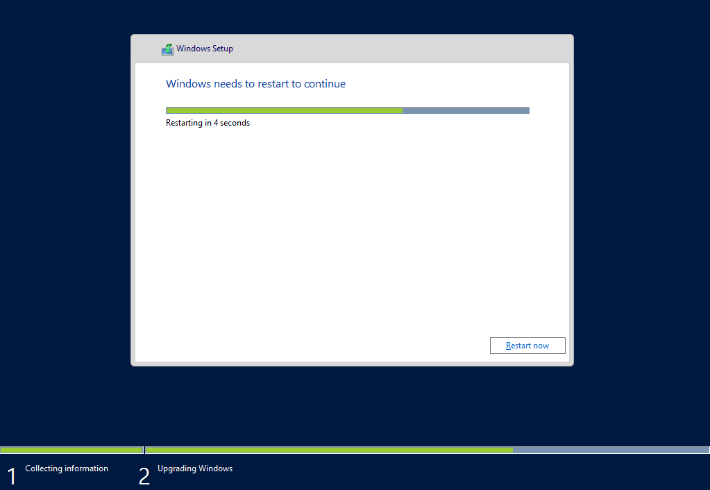 Upgrade Windows Server 2008 R2